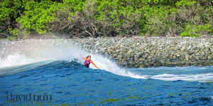 Donna surfing in Costa Rica. Betty Belts has had us on a global quest lately. I like what we find!